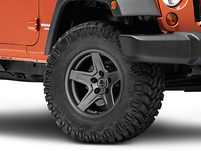 Mammoth Boulder Charcoal Wheel - 17x9 (07-18 Jeep Wrangler JK; 2018 Jeep Wrangler JL)