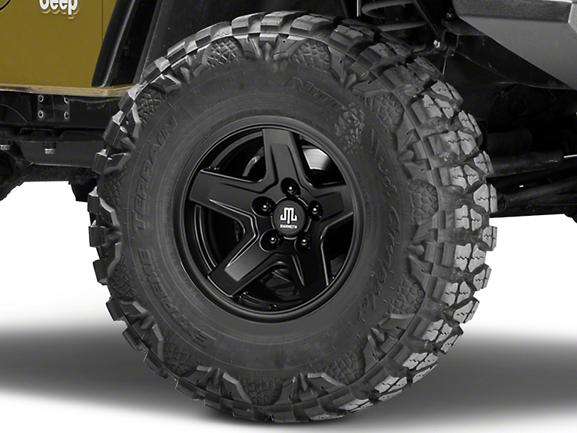Mammoth Boulder Black Wheel - 15x8 (87-06 Wrangler YJ & TJ)