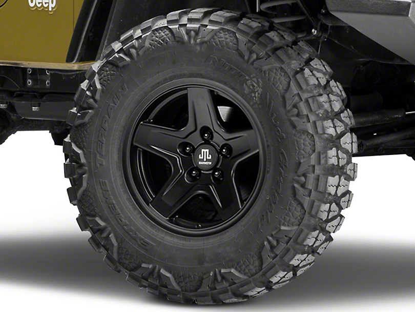 Mammoth Boulder Black Wheel - 16x8 (87-06 Jeep Wrangler YJ & TJ)