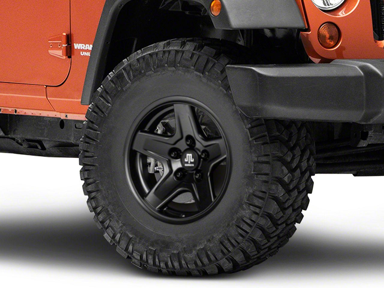 Mammoth Boulder Black Wheel - 16x8 +00mm Offset (07-18 Jeep Wrangler JK)