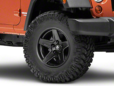 Mammoth Boulder Black Wheel - 17x9 (07-18 Jeep Wrangler JK; 2018 Jeep Wrangler JL)