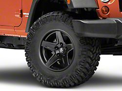 Mammoth Boulder Matte Black Wheel; 17x9 (07-18 Jeep Wrangler JK)