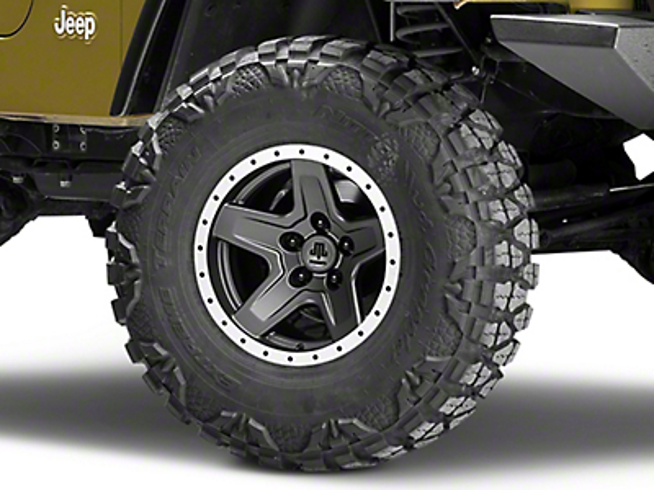 Mammoth Boulder Beadlock Style Charcoal Wheel - 15x8 (87-06 Wrangler YJ & TJ)