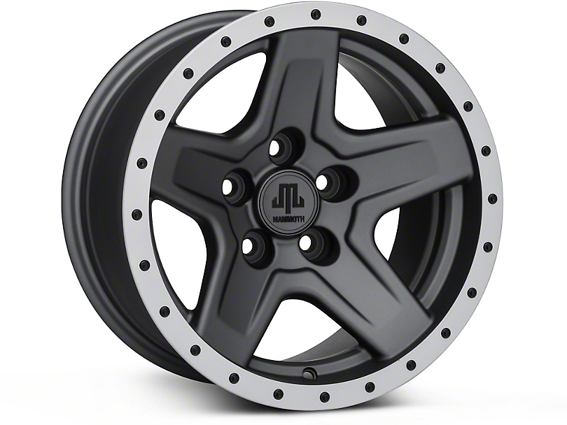 Mammoth Boulder Beadlock Style Charcoal Wheel - 15x8 (87-95 Jeep Wrangler YJ)