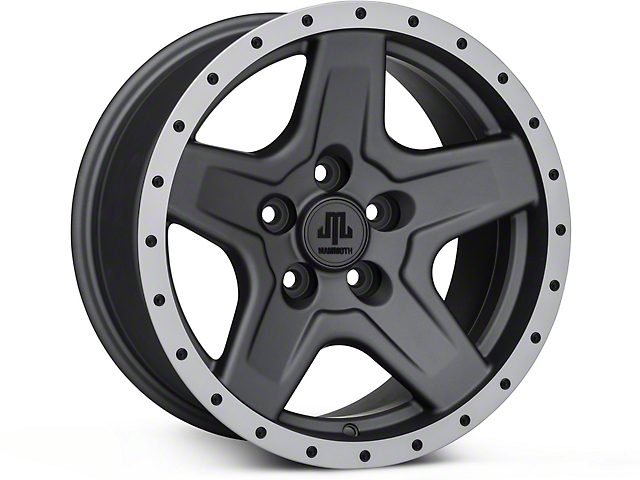 Mammoth Boulder Beadlock Style Charcoal Wheel - 16x8 (87-95 Jeep Wrangler YJ)