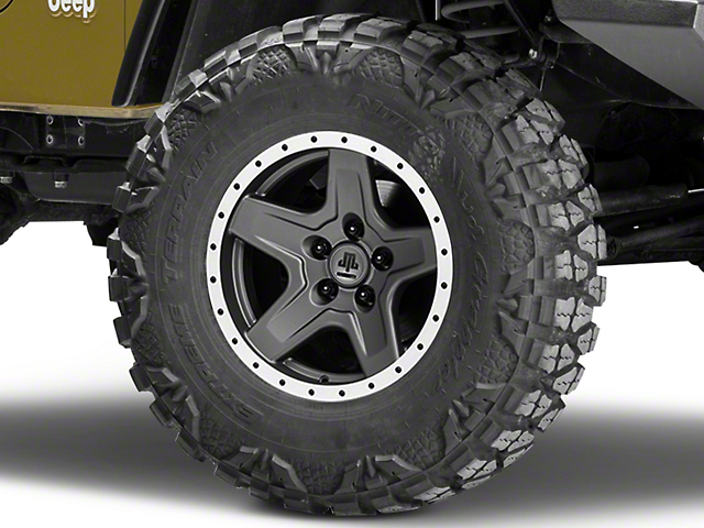 Mammoth Boulder Beadlock Style Charcoal Wheel - 16x8 (97-06 Jeep Wrangler TJ)