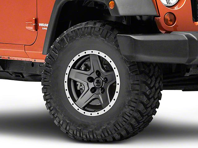 Mammoth Boulder Beadlock Style Charcoal Wheel; 16x8 (07-18 Jeep Wrangler JK)