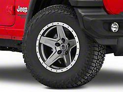 Mammoth Boulder Beadlock Style Charcoal Wheel; 17x9 (18-20 Jeep Wrangler JL)