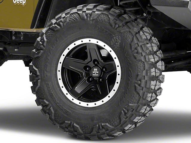 Mammoth Boulder Beadlock Style Black Wheel - 15x8 (97-06 Jeep Wrangler TJ)