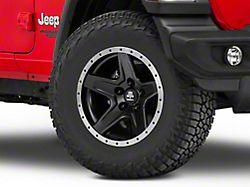 Mammoth Boulder Beadlock Style Black Wheel; 17x9 (18-20 Jeep Wrangler JL)
