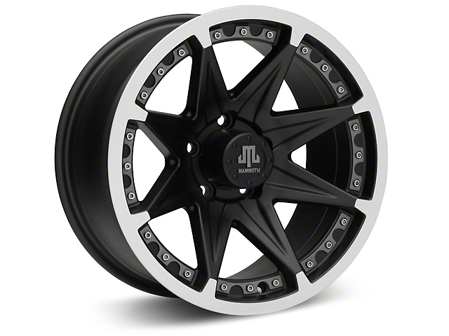 Mammoth Type 88 Black Wheel; 16x8 (87-95 Jeep Wrangler YJ)
