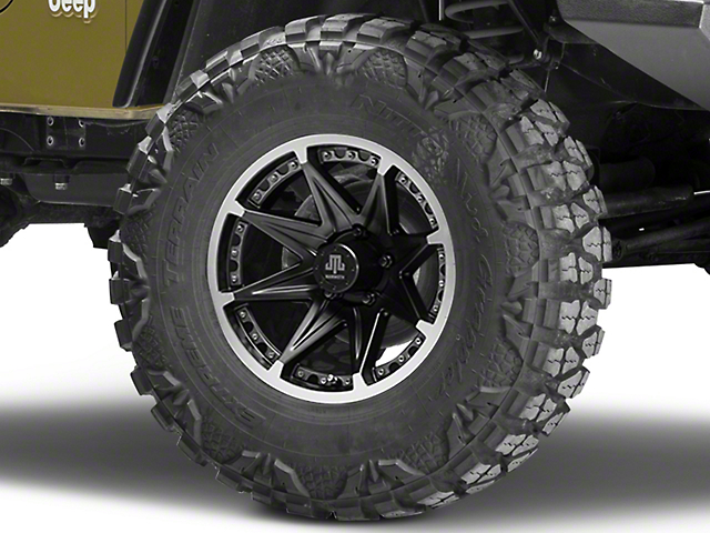 Mammoth Type 88 Black Wheel - 16x8 (87-06 Jeep Wrangler YJ & TJ)