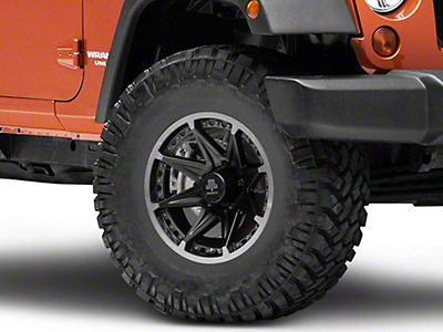 Mammoth Type 88 Black Wheel - 16x8 (07-18 Wrangler JK; 2018 Wrangler JL)