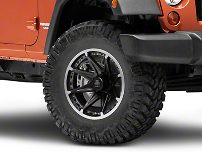 Mammoth Type 88 Black Wheel - 17x9 (07-18 Jeep Wrangler JK; 2018 Jeep Wrangler JL)