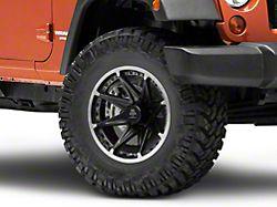 Mammoth Type 88 Black Wheel; 17x9 (07-18 Jeep Wrangler JK)