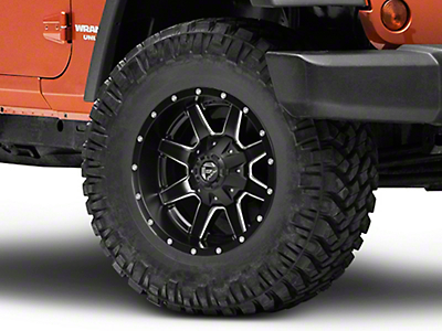 Fuel Wheels Maverick Black Milled Wheel - 17x9 (07-18 Jeep Wrangler JK; 2018 Jeep Wrangler JL)