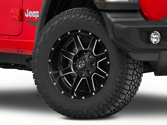 Fuel Wheels Maverick Matte Black Milled Wheel; 18x9 (18-20 Jeep Wrangler JL)