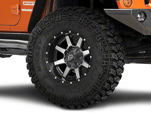 Fuel Wheels Maverick Matte Black Machined Wheel; 17x9 (07-18 Jeep Wrangler JK)
