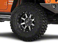 Fuel Wheels Maverick Black Machined Wheel - 17x9 (07-18 Jeep Wrangler JK)