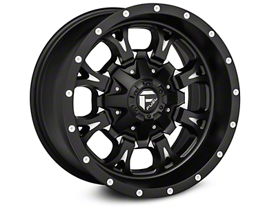 Fuel Wheels Krank Black Milled - 17x9 (07-18 Wrangler JK)