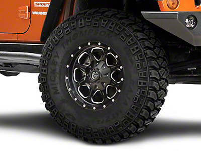 Fuel Wheels Boost Black Milled Wheel - 16x8 (07-18 Wrangler JK)