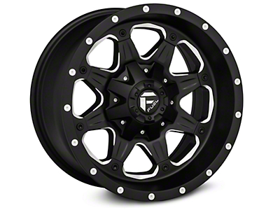 Fuel Wheels Black Milled Boost Wheel - 17x9 (07-17 Wrangler JK)