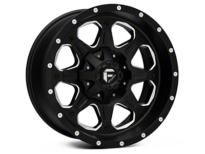 Fuel Wheels Boost Black Milled Wheel - 18x9 (07-18 Wrangler JK)