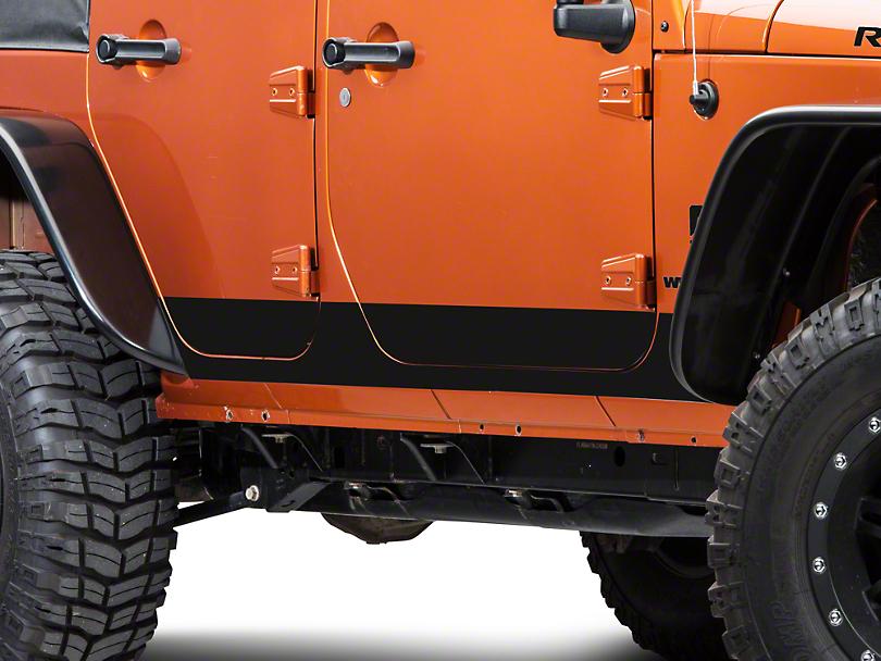 Rocker Panel Decal - Matte Black (07-18 Jeep Wrangler JK 4 Door)