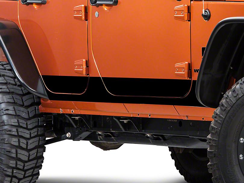XT Graphics Rocker Panel Decal - Black (07-18 Jeep Wrangler JK 4 Door)