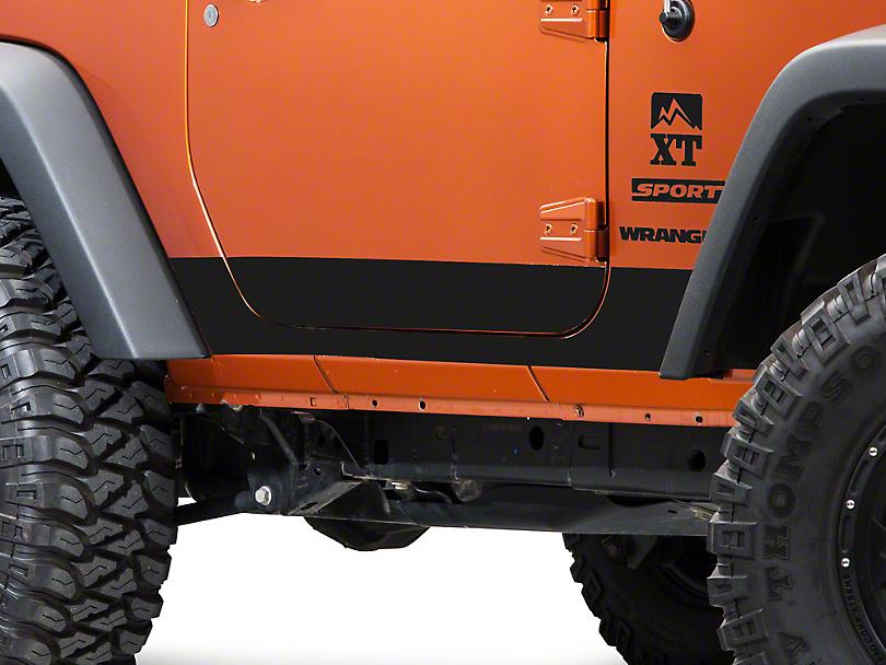 Rocker Panel Decal - Matte Black (07-18 Jeep Wrangler JK 2 Door)
