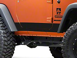Rocker Panel Decal - Matte Black (07-18 Jeep Wrangler JK 2 Door)