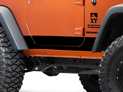 XT Graphics Rocker Panel Decal - Black (07-18 Wrangler JK 2 Door)