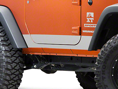 XT Graphics Rocker Panel Decal - Silver (07-18 Wrangler JK 2 Door)