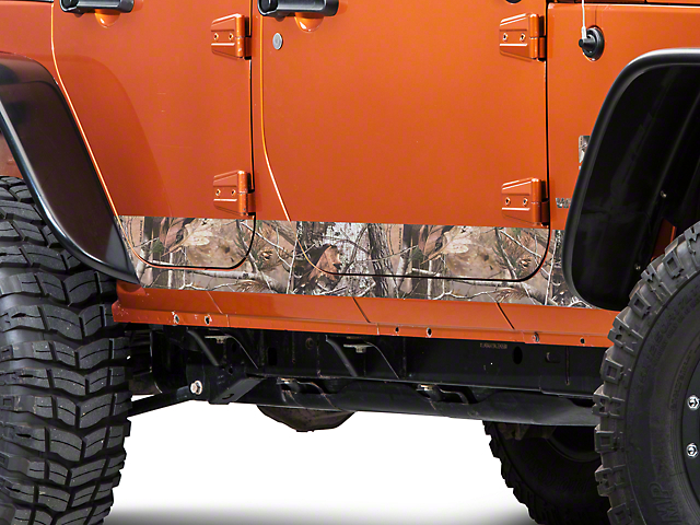 SEC10 Rocker Panel Decal; Realtree Camo (07-18 Jeep Wrangler JK 4 Door)