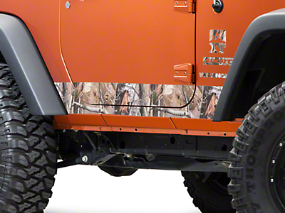 XT Graphics Rocker Panel Decal - Realtree Camo (07-18 Wrangler JK 2 Door; 2018 Wrangler JL 2 Door)