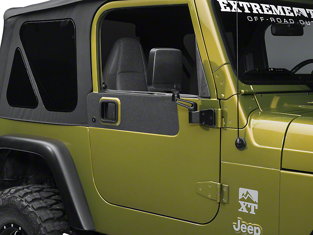 Barricade BodyShield Door Accent Decal - Textured Black (87-06 Jeep Wrangler YJ & TJ)