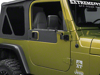 Barricade BodyShield Door Accent Decal - Textured Black (87-06 Wrangler YJ & TJ)