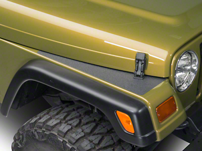 Barricade BodyShield Top Fender Decal - Textured Black (87-06 Wrangler YJ & TJ)