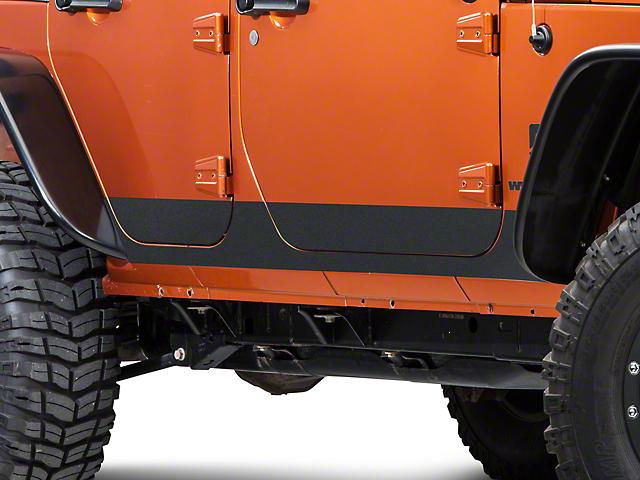 SEC10 BodyShield Rocker Panel Decal; Textured Black (07-18 Jeep Wrangler JK 4 Door)