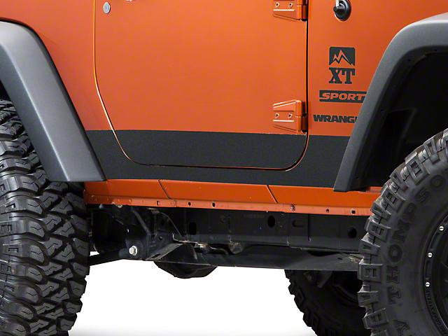 SEC10 BodyShield Rocker Panel Decal; Textured Black (07-18 Jeep Wrangler JK 2 Door)