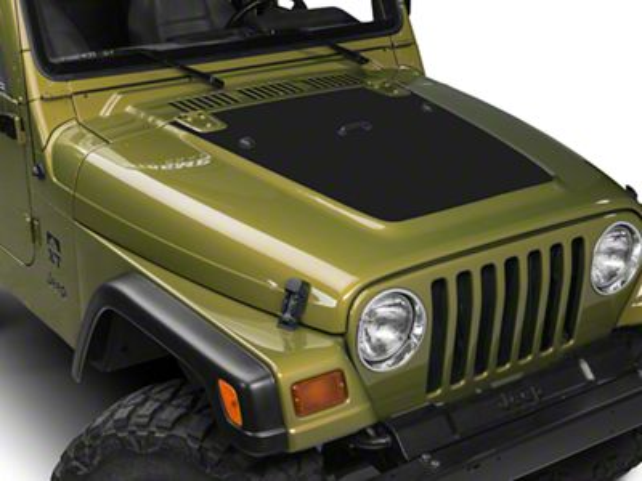 Sec10 Jeep Wrangler Hood Decal Matte Black J100718 97 06 Jeep Wrangler Tj