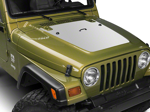 Hood Decal - Silver (97-06 Jeep Wrangler TJ)