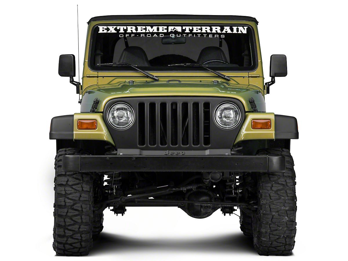 482d1329d32e1 Barricade Matte Black Grille Cover (97-06 Jeep Wrangler TJ)