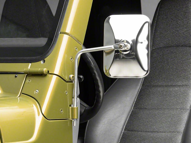 Barricade Adventure Stainless Steel Mirrors - Pair (87-06 Jeep Wrangler YJ & TJ)