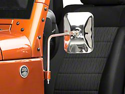 Barricade Adventure Stainless Steel Mirrors - Pair (07-19 Jeep Wrangler JK & JL)