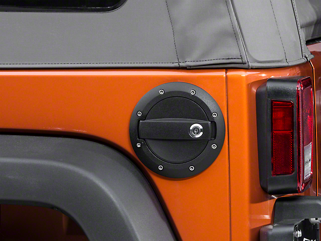 Barricade Locking Fuel Door - Textured Black (07-18 Wrangler JK) : fuel door - Pezcame.Com