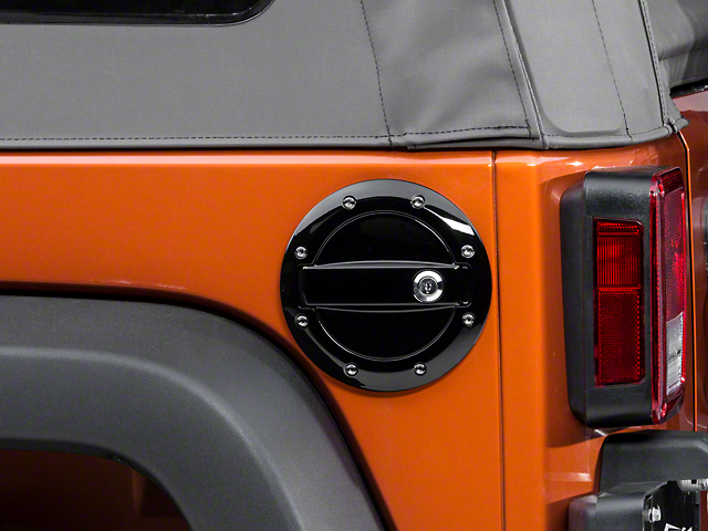 Barricade Locking Fuel Door; Gloss Black (07-18 Jeep Wrangler JK)