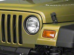 RedRock 4x4 Headlight Bezels; Matte Black (97-06 Jeep Wrangler TJ)