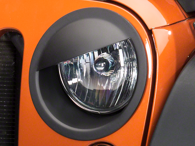 RedRock 4x4 Angry Eyes Headlight Conversion - Matte Black (07-18 Jeep Wrangler JK)
