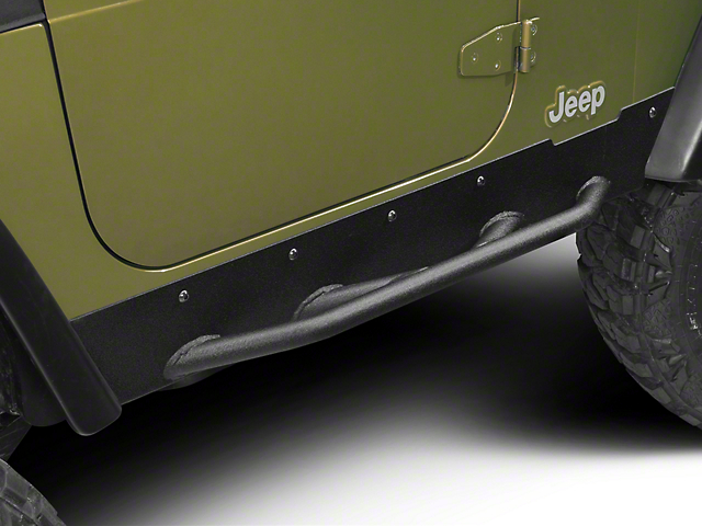 Barricade Extreme HD Rock Sliders - Textured Black (97-06 Jeep Wrangler TJ, Excluding Unlimited)